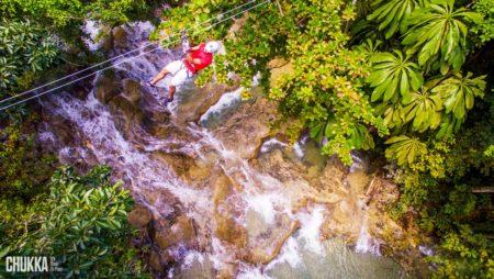 Zip-line Over Dunn's River Falls